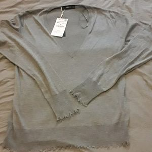 2/$30 BNWT grey v-neck  wool blend sweater